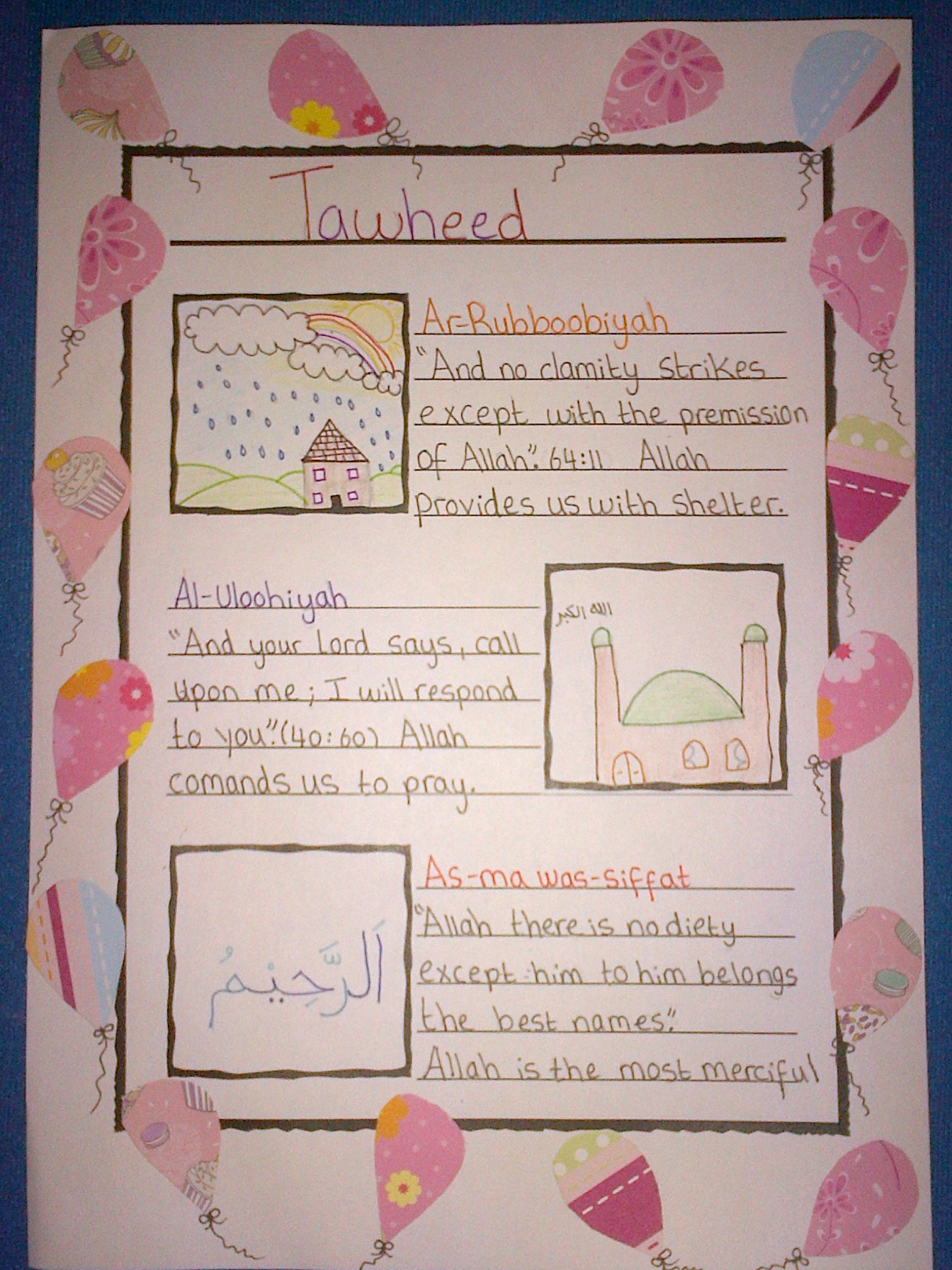 Tawheed Activities For Kids